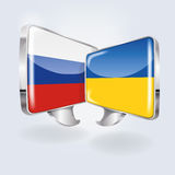 Bubbles with Russia and Ukraine Stock Photos
