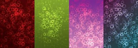 bubbles samlingslampa vektor illustrationer