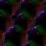 Bubbles seamless on black Royalty Free Stock Photography