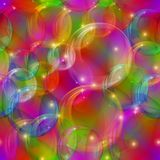 Bubbles seamless motley Stock Photos