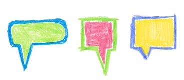 Bubbles set. Colorful hand draw bubbles set. Vector illustration vector illustration