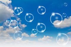 bubbles skyen Fotografering för Bildbyråer