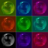 Bubbles smileys, colorful Stock Photo