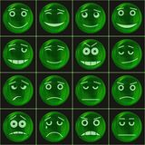Bubbles smileys, green Royalty Free Stock Image