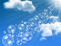 Bubbles soap on the sky Stock Photo