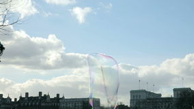 Bubbles on Southbank stock footage