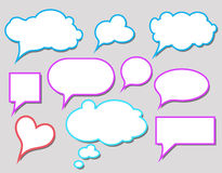Bubbles for speech. Colorful speech bubbles and dialog balloons Royalty Free Stock Photography