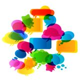 Bubbles speech. Colorful bubbles speech, transparencies effects used Royalty Free Stock Photos