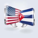 Bubbles and speech in Cuban and American Stock Photo