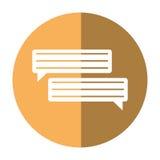 Bubbles speech dialog speak text shadow. Vector illustration eps 10 Royalty Free Stock Photography
