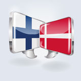 Bubbles and speech in Finnish and Danish. And neighbors Royalty Free Stock Images
