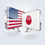Bubbles and speech in Japanese and American Stock Photo