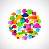 Bubbles speech, no transparencies. Colorful bubbles speech, no transparencies Stock Photo