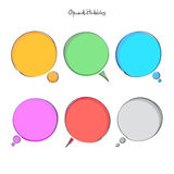 Bubbles speech. Set of hand drawn speech bubbles  on white background. vector round text box icons Stock Photos