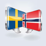 Bubbles and speech in Swedish and Norwegian. In Scandinavia Royalty Free Stock Images