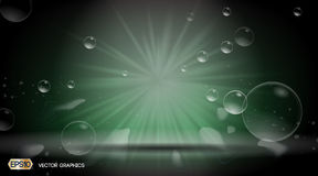 Bubbles Splash Dazzling effect background. 3D Realistic Vector illustration Stock Photos