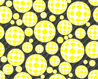 Bubbles with square shapes background Royalty Free Stock Photo