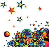 Bubbles and stars background Stock Image