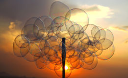 Bubbles during sunset Royalty Free Stock Photos