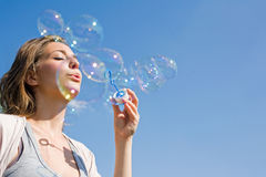 Bubbles to the wind. royalty free stock photography