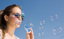 Bubbles to the wind. Stock Images