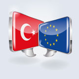 Bubbles with Turkey and Europe Royalty Free Stock Image