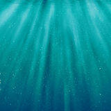 Bubbles under sea water background Stock Images