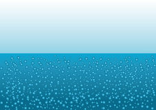Bubbles under water Royalty Free Stock Photo