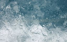 Bubbles Underwater water splash waves boat window Stock Photography