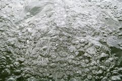 Bubbles on water Stock Photography