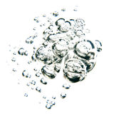 Bubbles of water. Over white background Stock Photos