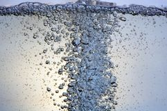 Bubbles in a water. Bubbles in water Stock Images