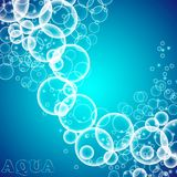 The bubbles in the water Royalty Free Stock Photo