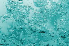Bubbles in a water close up Stock Images