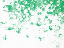 Bubbles watercolor green froth. Watercolor hand drawn bubbles colorful soap froth Royalty Free Stock Image