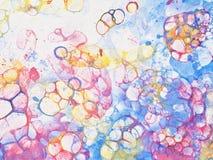 Bubbles watercolor rainbow. Watercolor hand drawn bubbles colorful soap froth Stock Photo