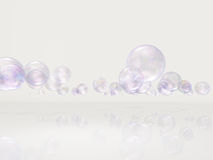 Bubbles in white space Stock Photos