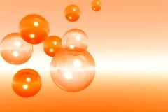 bubbles2 pomarańcze Zdjęcie Stock