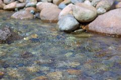 Bubbling brook on warm afternoon Royalty Free Stock Photography