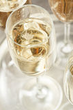 Bubbling Champagne in a Glass Stock Photography