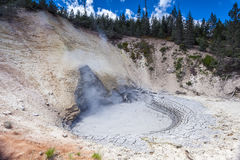 Bubbling geothermal mud pool, Yellowstone National Park. Stock Photography