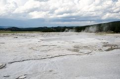 Bubbling geysers inside of Yellowstone National Park. In summer royalty free stock photography