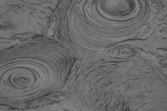 Bubbling Mud. Pattern from Bubbling Mud in Rotorua, NZ Stock Photo