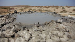 Bubbling Mud Volcano stock footage