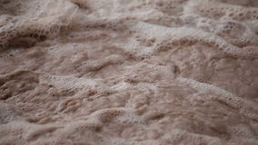 Bubbling muddy river water cloesup. Video of bubbling muddy river water cloesup stock footage