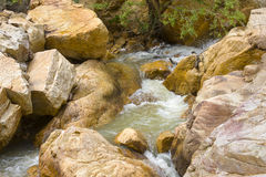 Bubbling stream along the Swartberg Pass near Prince Albert in the Karoo region of South Africa Royalty Free Stock Photo