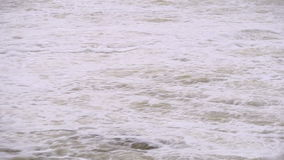 Bubbling water in the river stock footage
