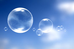 bubblor över skyen Royaltyfri Foto