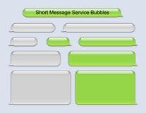Bubblor för kort meddelandeservice Arkivfoton