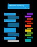 Bubblor för messaging Arkivbilder